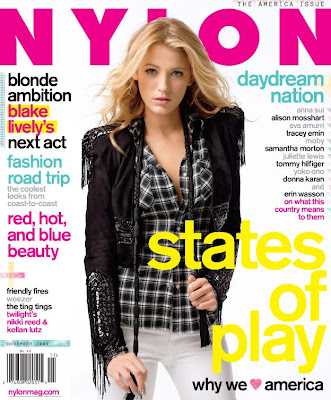 Blake Lively Nylon on Etiquetas  Blake Lively   Nylon