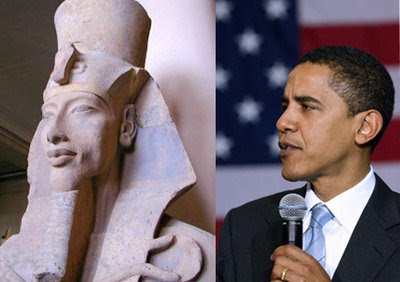 Pharaoh Akhenaten Obama http://parsha.blogspot.com/2009/08/does-obama-look-like-pharaoh.html