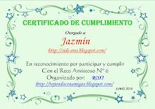Mi certificado de mi primer reto amistoso
