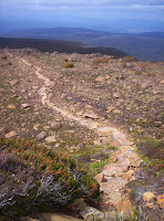 New paved trackwork above Hartz Pass, Hartz Mountains - 13th Jan 2007