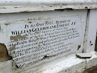 Inscription in memory of William Gellibrand on the Gellibrand Vault, South Arm - 7th June 2008