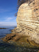 Permian sedimentary cliffs at Fossil Cove - 7th August 2008