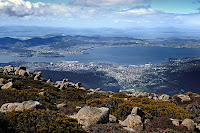 Hobart from Mt Wellington - 21 Sep 2009