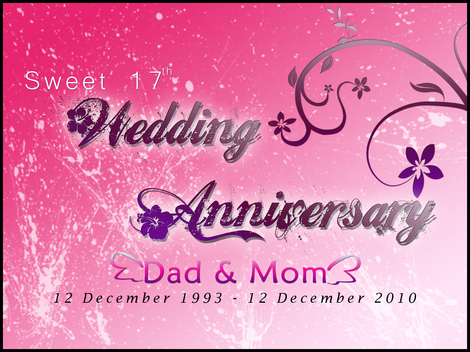 adiheikal&39;s BLOG WEDDING ANNIVERSARY, MY MOM & DAD
