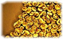 Золото, россыпь