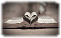 Открытая книга, сердце, любовь
