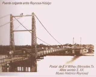 Puente colgante Reynosa Hidalgo
