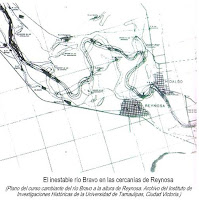 Inestable rio Bravo cercanias de Reynosa