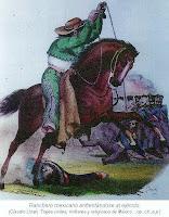 Ranchero mexicano enfrentandose al ejercito