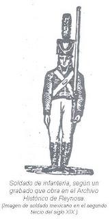 Imagen soldado mexicano siglo XIX
