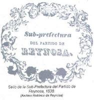 Sello Sub Prefectura Partido Reynosa 1838