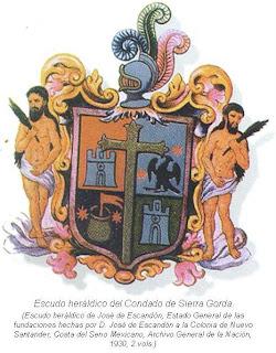 Escudo heraldico del Condado de Sierra Gorda