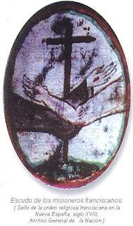 Sello de misioneros franciscanos