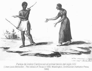 Pareja indios Carrizos siglo XIX