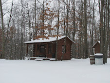 A winters day at the cabin.