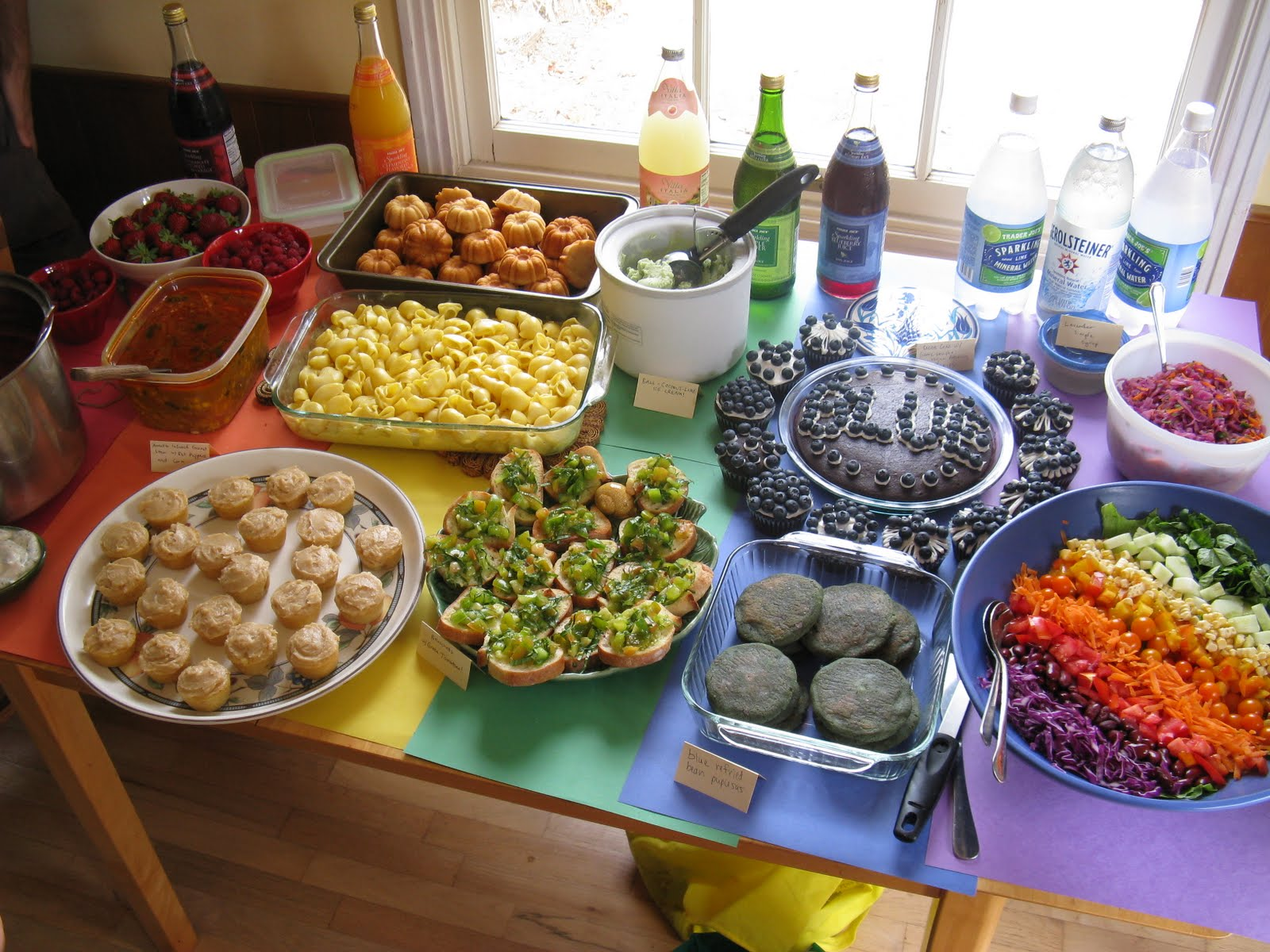 Potluck Dinner Party Ideas Part - 18: Rainbow Potluck! Itu0027s So Intense!