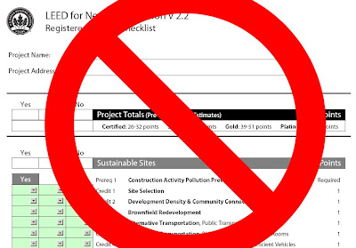 Horrible New PDF Version of LEED Checklist