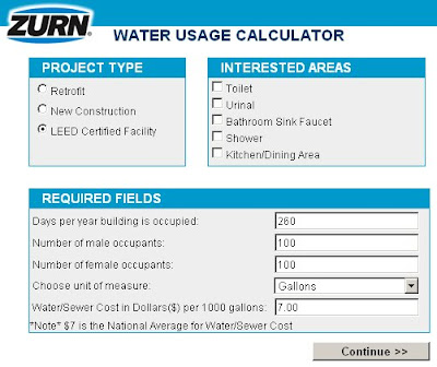 Zurn Water Use Calculator