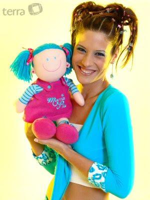 María Pía Copello con su muñeca María Pía