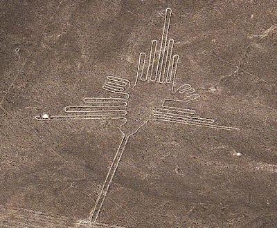 Colibrí en la línea de Nazca