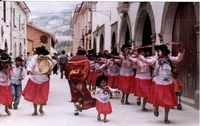 Niña presente en el Carnaval de Ayacucho
