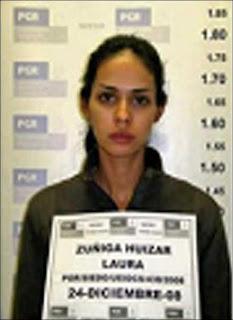 Laura Elena Zuñiga en calidad de detenida