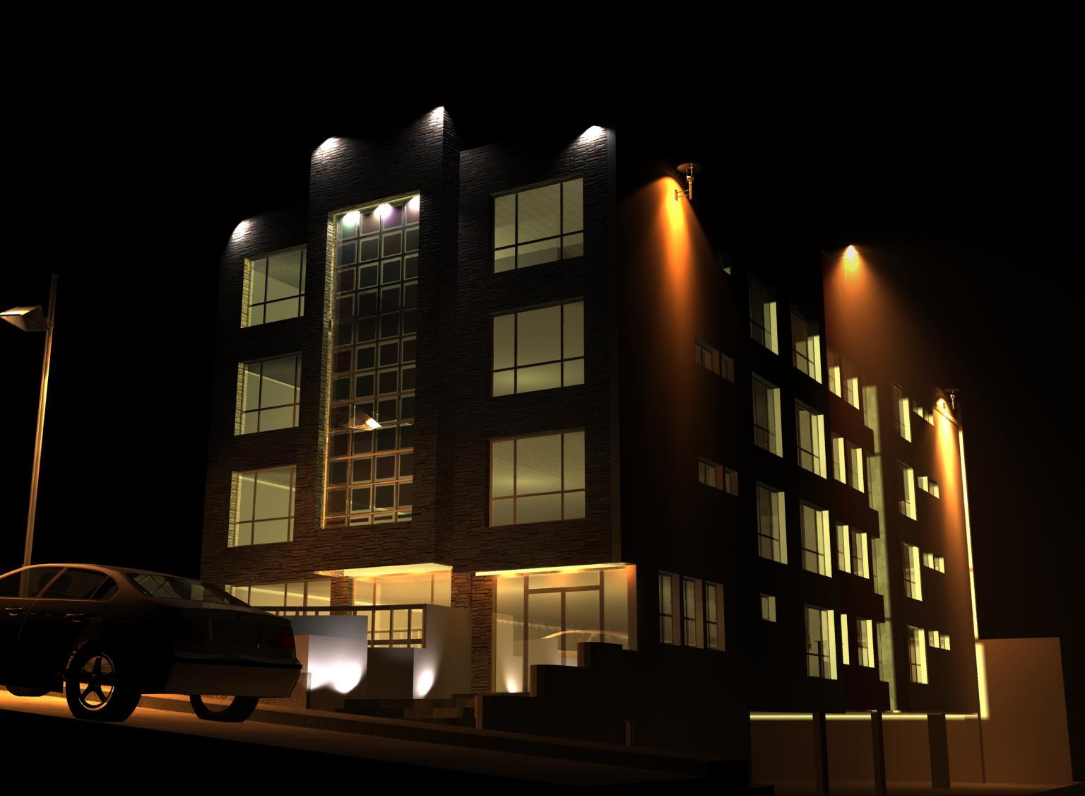 Estudio de iluminacion exterior e interior arq juan carlos c rdenas - Iluminacion exterior ...