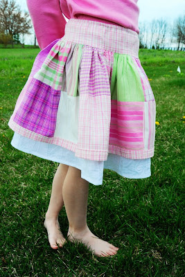 Pretty Patchwork Charm Pack Skirt
