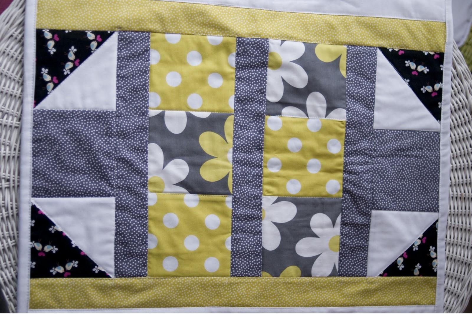 Fabric Doll Mini Quilt The Polka Dot Chair