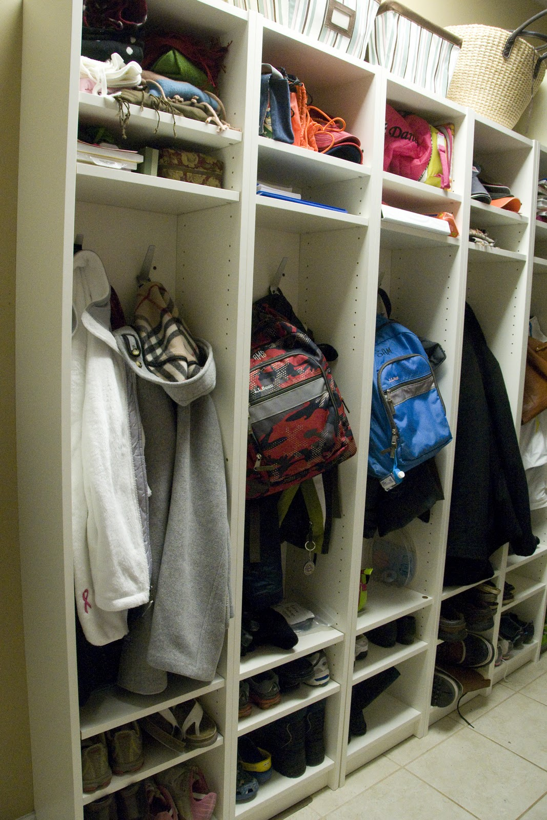 Make your own mud room lockers - The Polkadot Chair