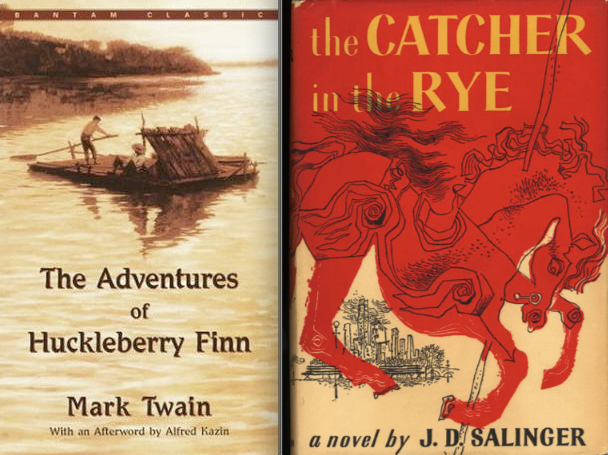 a comparison of two novels catcher in the rye by j d salinger and the adventures of huckleberry finn Melville's redburn, mark twain's the adventures of huckleberry finn, j d  salinger's the catcher in the rye, and kurt vonnegut's slaughterhouse-five, or, .