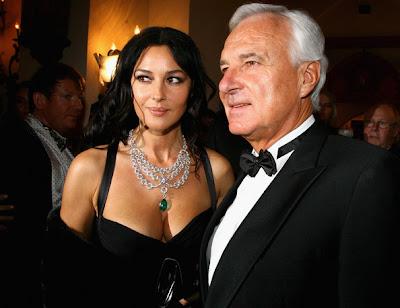 Monica Bellucci Layered Gemstone Necklace