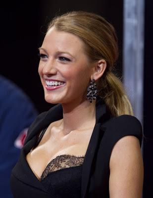 Blake Lively Dangling Gemstone Earrings