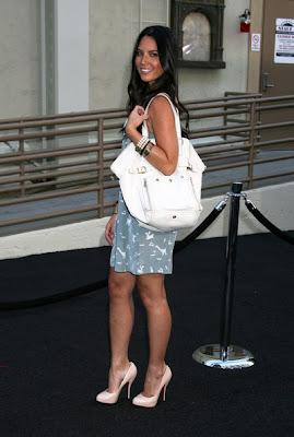 Olivia Munn Pearl Bracelet