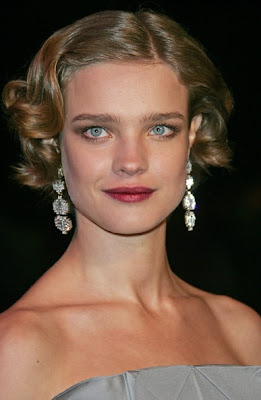 Natalia Vodianova Dangling Diamond Earrings