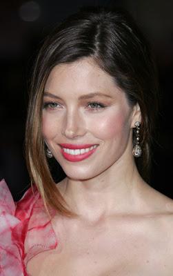 Jessica Biel Dangling Diamond Earrings