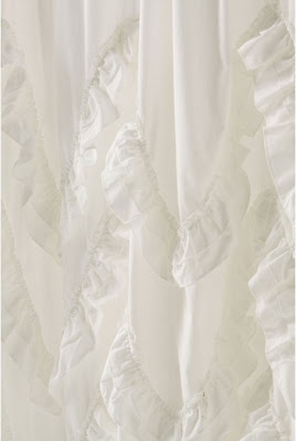 anthro+waves+of+ruffles+shower+curtain+close+up National Sewing Month: Anthropologie Inspired Shower Curtain by Suzannah of Adventures in Dressmaking