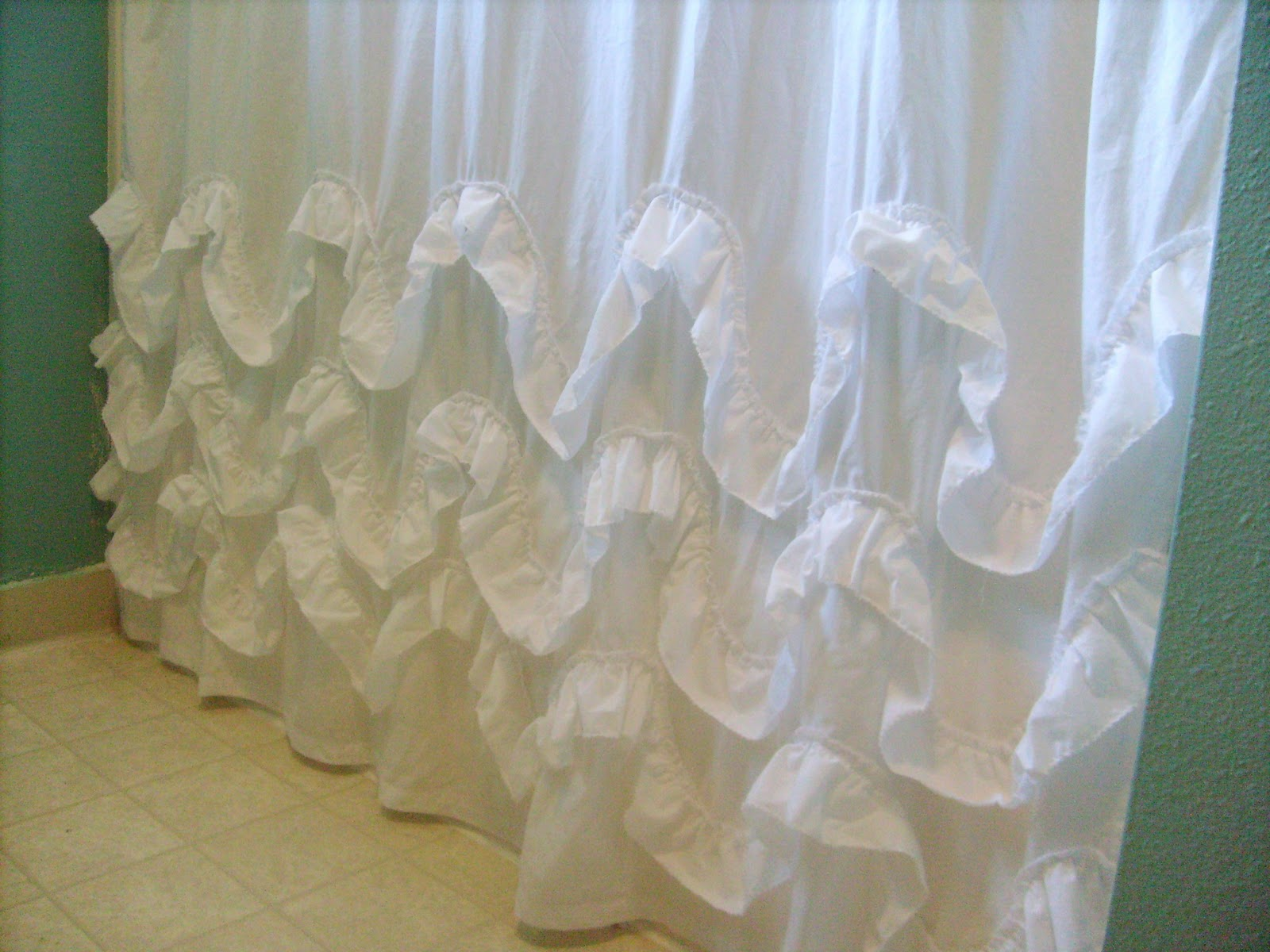 Diy ruffled shower curtain - Diy Ruffled Shower Curtain 10