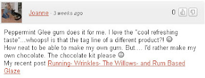 Winner Comment of the Glee Gum Candy Kit Giveaway