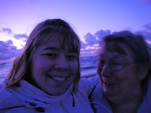 Grandma Honey and me at the coast
