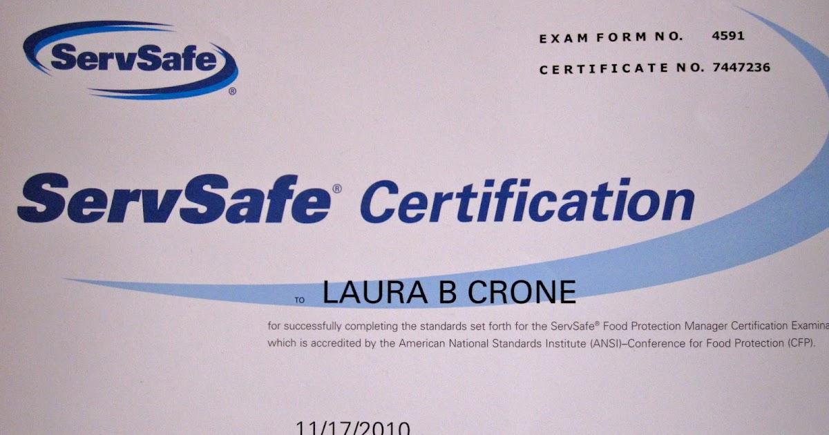 Brooks\' Portfolio: Servsafe certification