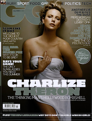 Charlize Theron GQ Magazine July 2008 Cover