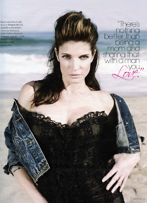 Stephanie Seymour in Hampton Magazine