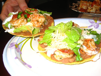 shrimp taco tostadas taco night