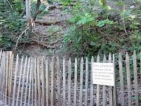 バスティーユ城塞へのトレイルの進入禁止