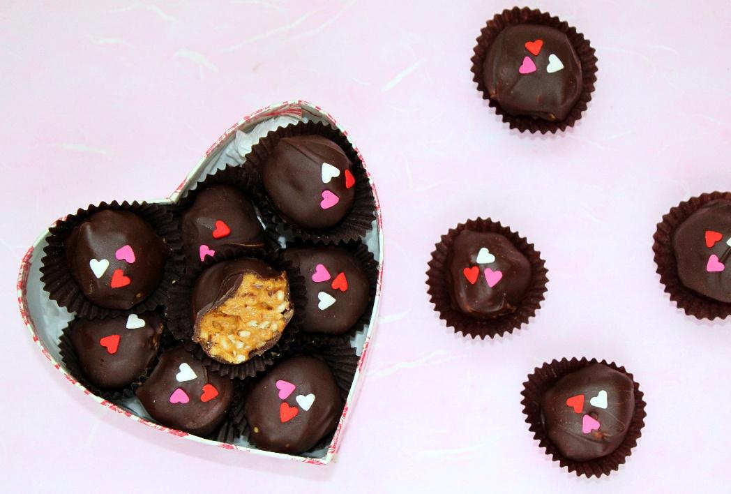 Peanut Butter Crunch Truffles | Shauna Sever | The Next Door Baker