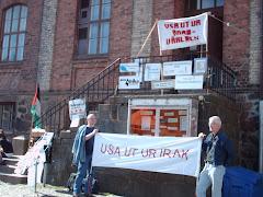 Protestmöte mot USA våren 2007