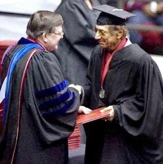 Joe Namath finally gets his BA