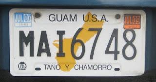 old Guam license plates