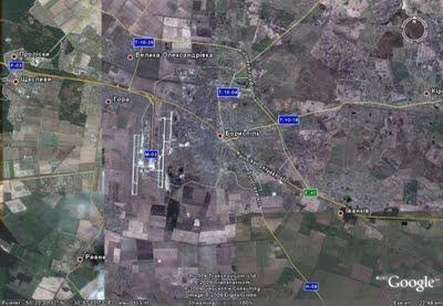 Карта автомобильных дорог на подъезде к международному Аэропорту Борисполь